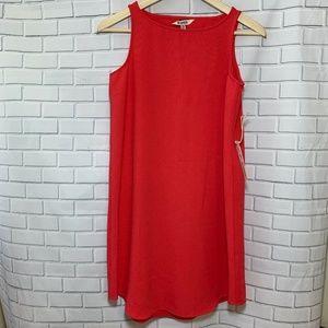 BB Dakota Orange Cutaway Back Tank Dress Size XS